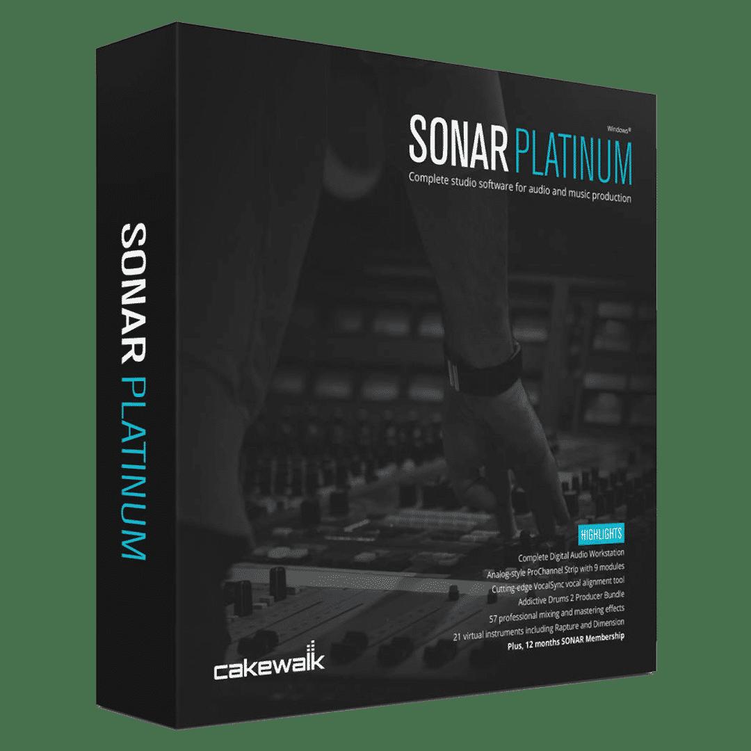 Cakewalk Sonar - logiciel de musique assistée par ordinateur - DAW