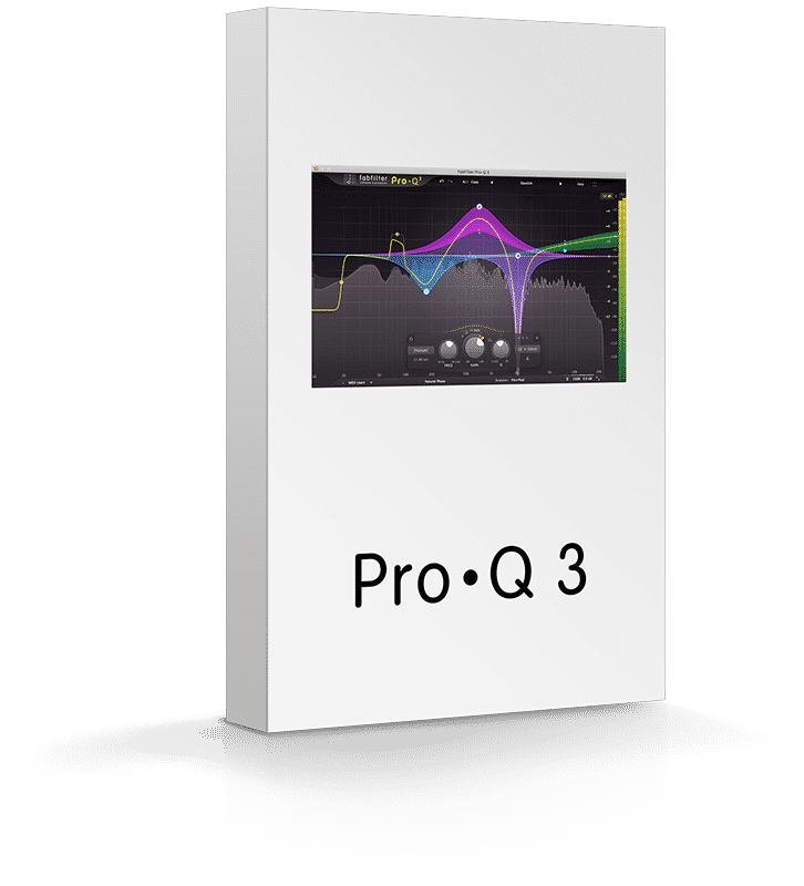 Box Fabfilter Pro Q 3 - Plugin EQ - TOP10 - Classement - WE COMPOZE