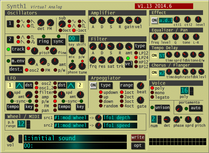Synth1, Sound Design, Free Download, Filter, Virtual Analog