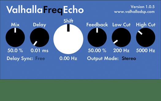 Valhalla FreqEcho - Delay - Plugin Reverb/Delay - TOP10 - Classement - WE COMPOZE